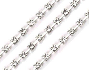 Diamond rhinestone 5 mm wide band