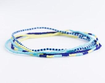 Bracelet, wrap bracelet, seed beads, beaded, Matsuno