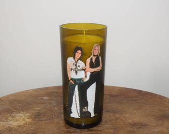Joan Jett and Cherie Currie of the Runaways Candle