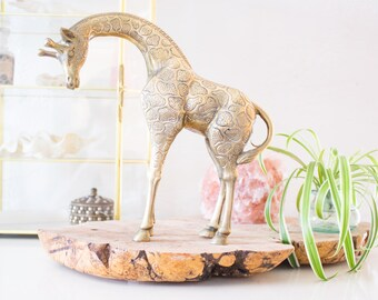 Vintage Brass Giraffe Figurine / Statue, Home Decor Accents