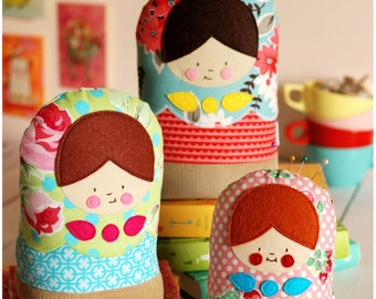 Mod for Matryoshka PDF Sewing Pattern Babushka Russian Dolls Instant Download