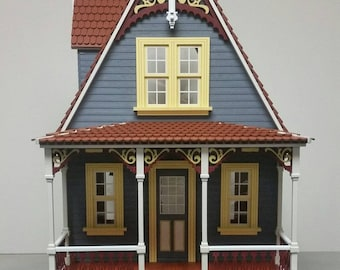 Wood Victorian Dollhouse Kit - Little Annabelle Victorian Cottage 1:12 Scale