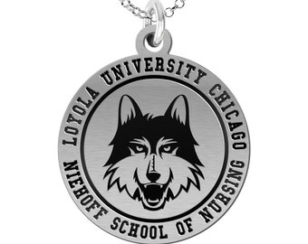 Loyola University Chicago Niehoff School of Nursing Charm | Sterling Silver | Officially Licensed