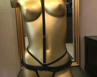 Harness lingerie Burlesque open string collection