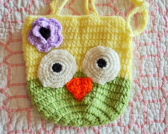 Crochet Owl Purse Girls Purse Flower Girl Gift Cute Summer Bag Girl's Gift Idea Kids Handbag Toddler bag