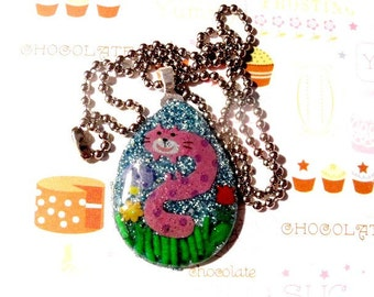 The Chesire Caterpillar - Resin Sprinkle Necklace