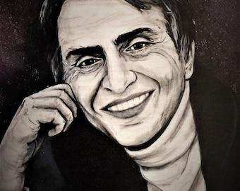 Sagan portrait print - 8x10