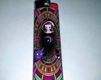 Pokemon Mew, Haunter, and Gastly Psychic Custom Lighter