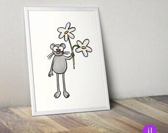 """A4 Kinder-Poster """"Maus"""""""