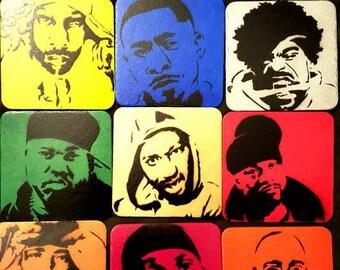 Wu Tang Members Coaster Set 2.0