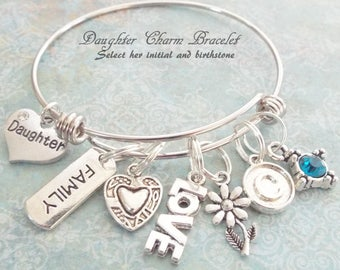 Daughter Gift, Mother to Daughter Gift, Birthstone Jewelry, Personalized Gift, Birthday Gift for Daughter, Love Daughter Gift, Mother Gift