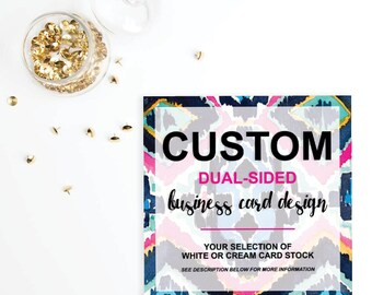 Custom DUAL-SIDED Business Card Design
