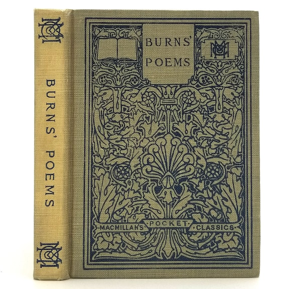 Selected Poems and Songs of Robert Burns Hardcover HC 1908 Macmillan Pocket Classics - Poetry, Verse