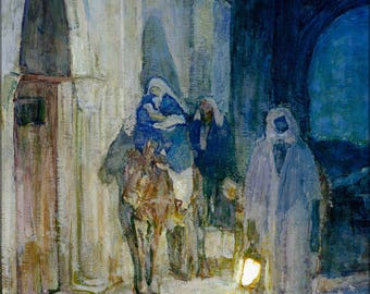 Poster, Many Sizes Available; Henry Ossawa Tanner Flight Into Egypt 1923