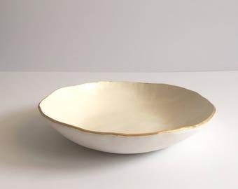 Large Gold Lip Dish