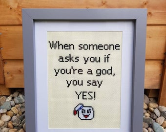 "Cross Stitch Pattern - ""Ghostbusters"" Say YES!"