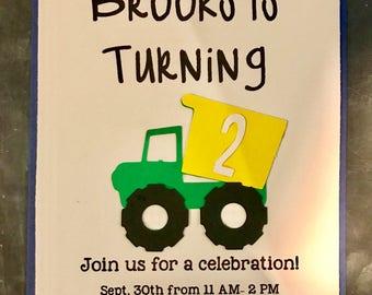 Cars and Trucks Birthday Invitation!