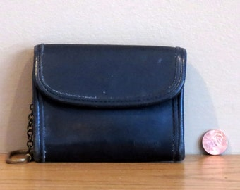 Etsy BDay Sale Coach Multi Function Purse Wallet With Key FOB- Black Leather No 7219- Very Good Condition