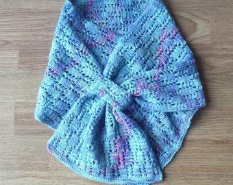 Knitting PATTERN SCARF Lacy Ladders Scarflette Neckwarmer Cowl - Instant Download