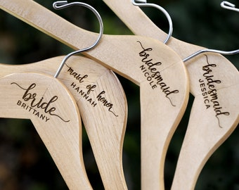Name Hangers, Dress Hanger, Bridal Hangers, Bridesmaid Hangers, Bride Hanger, Personalized Hanger, Wedding Hanger, Custom Hanger X1