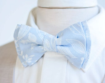 Bow Tie, Mens Bow Tie, Bowtie, Bowties, Bow Ties, Groomsmen Bow Ties, Wedding Bowties, Rifle Paper Co - Queen Anne In Pale Blue