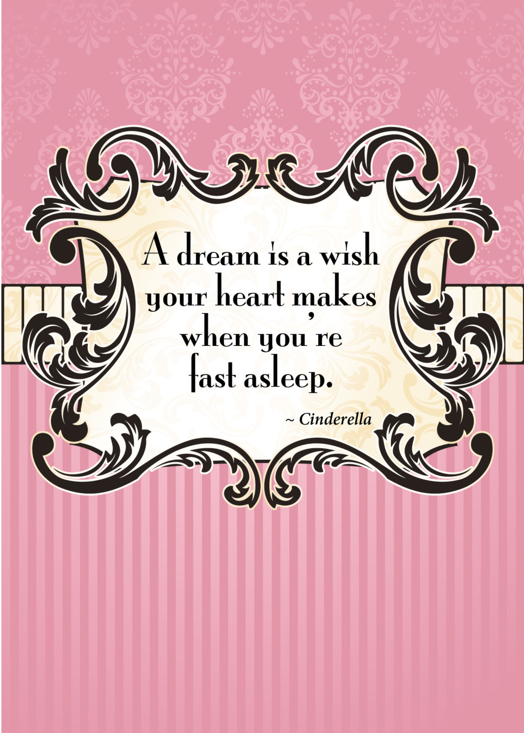 Cinderella Quotes Print Of Quote From Disney's Cinderella