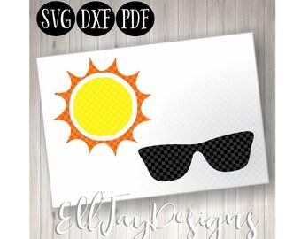 Beach SVG, sunshine, cut files, beach files, summer cut files, summer SVG, monogram svg, Beach summer, sunglasses cut fies, summer cut