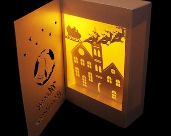 3D SVG Shadow Box Lantern Jingling Bells