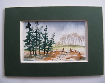 Forest Walk, Art Cards, Editions & Collectables, Watercolour, Forest, FIelds,