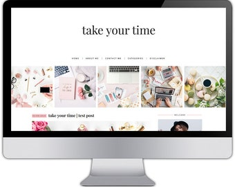 Premade responsive blogger template - TAKE YOUR TIME