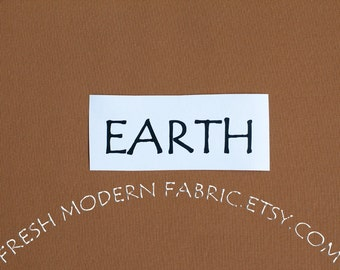 33 Inch End of Bolt Remnant Earth Kona Cotton Solid Fabric from Robert Kaufman, K001-138