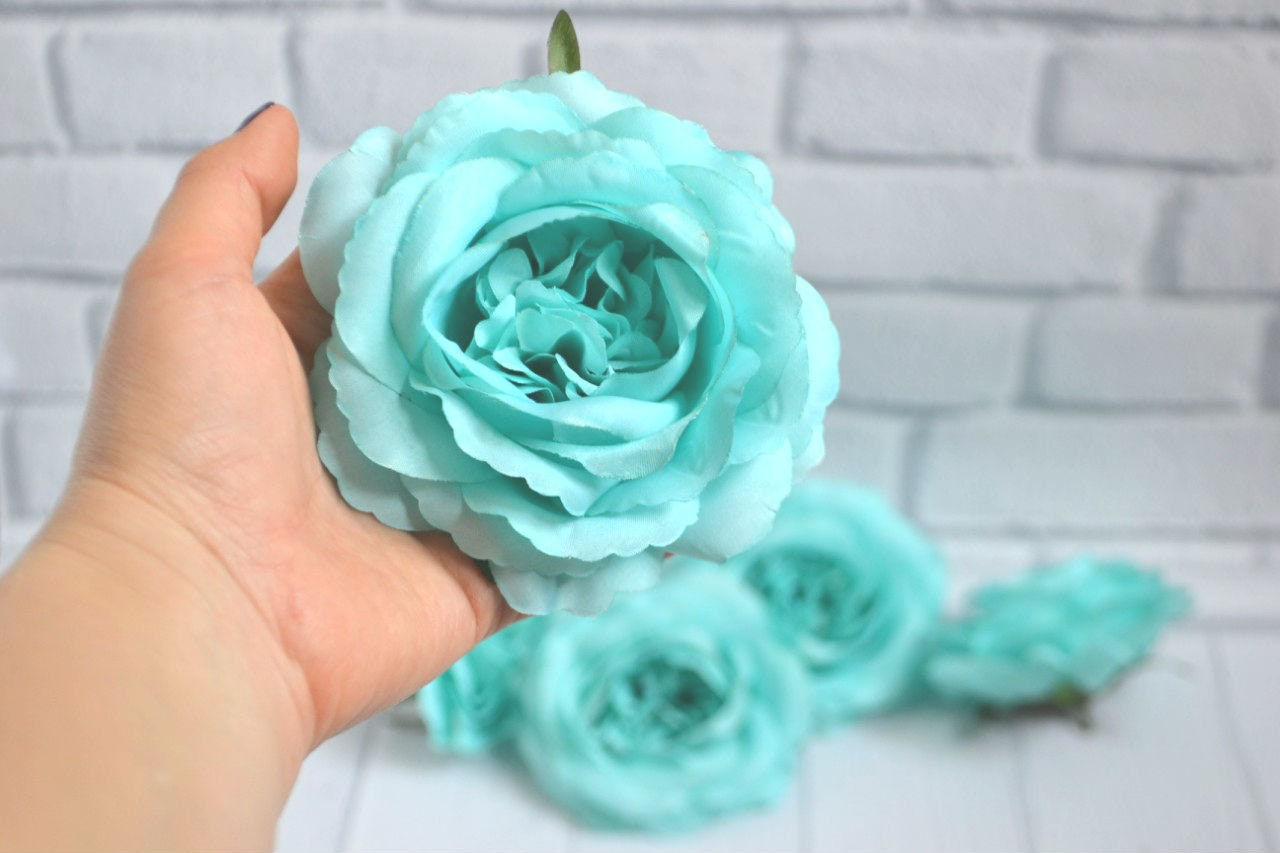 Turquoise Flowers Artificial Roses Silk Flowers Artificial