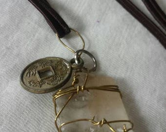 Optical Calcite Necklace