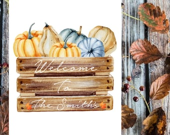 Autumn welcome to our home print.