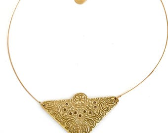 schwere Kette Bronze gold Arabesken.
