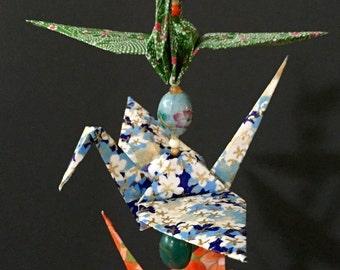 Origami Crane Mobile - 5 Birds