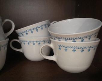 Corelle Snowflake Garland Set of 6 Mugs