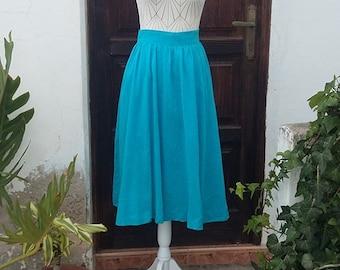 Authentic skirt Vintage 50s light blue XS, S