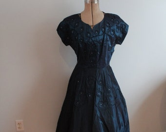 1950's Party Dress with Rhinestones