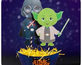 Star Wars; Star Wars Party; Star Wars Centerpieces; Star Wars Birthday Centerpieces; Star Wars decorations; Star Wars Birthday Party Decor