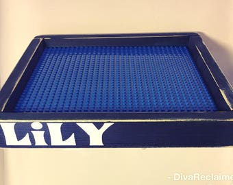 Lego Tray, lego table, personalized lego tray, lego accessories, kids decor, kids toys, toy table, toys, lego base plate, building blocks