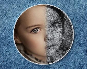 Custom portrait from photo, portrait of thread, personalized gift, unique wall decor, home decor, unique gift, custom portrait, threadart