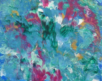 Acrylic painting - abstract floral 11