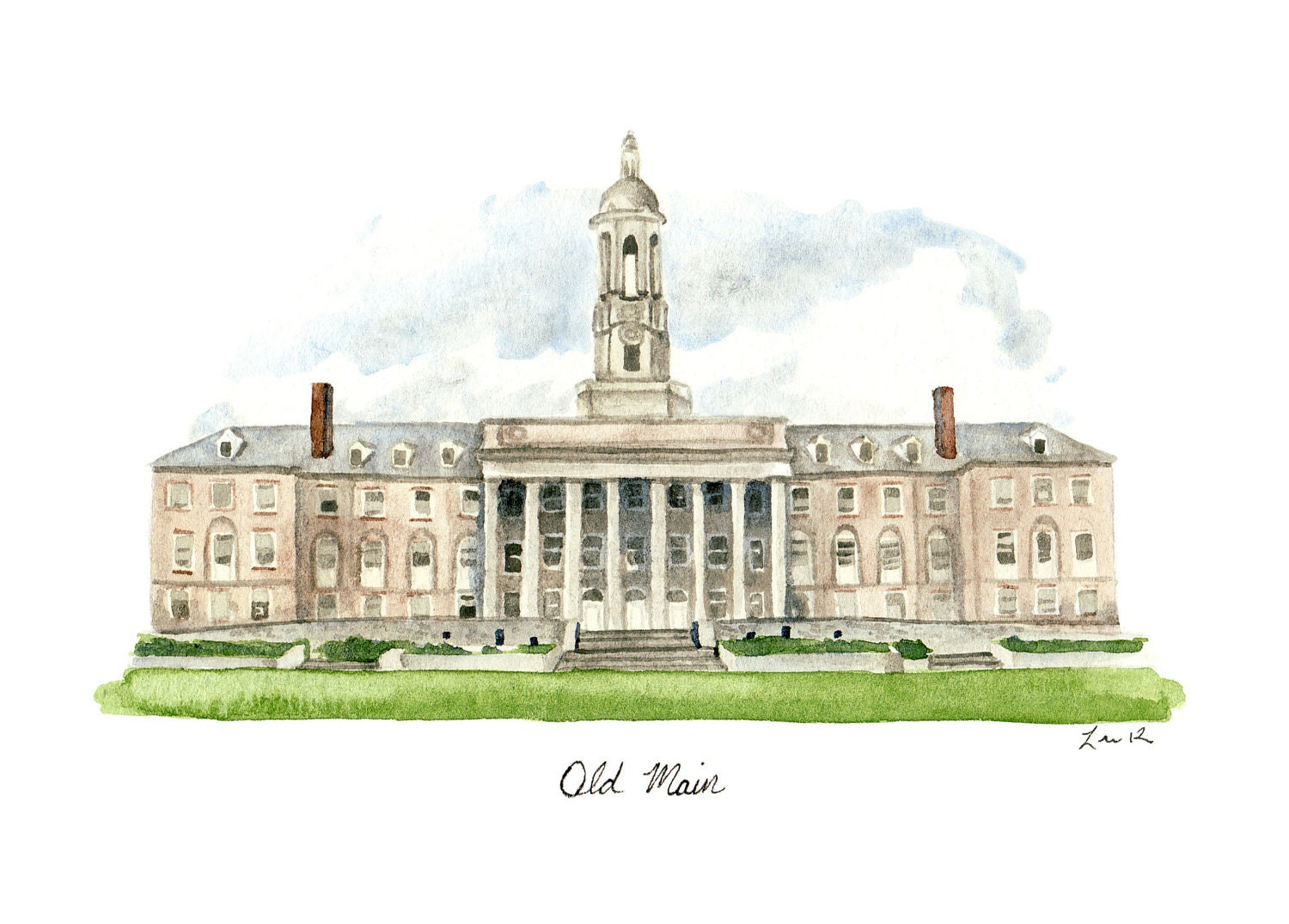 Penn State Old Main Art Penn State Painting Penn State