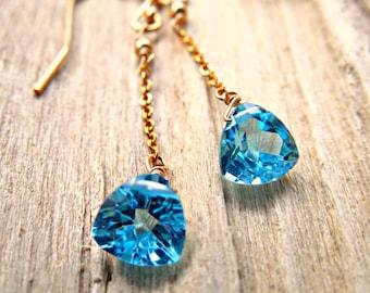 Blue Topaz Birthstone Earrings | Topaz Birthstone | December Birthstone Jewelry | Blue Topaz | December Birthday Gift | Topaz Jewelry Gift