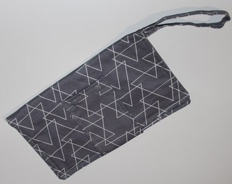 Nappy Diaper Clutch - Grey Triangle - CLEARANCE