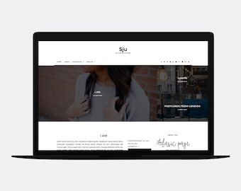 Responsive Blogger template | SJU