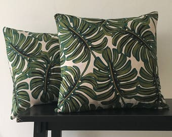 Monstera Palm Rifle Paper Co. Throw Pillow