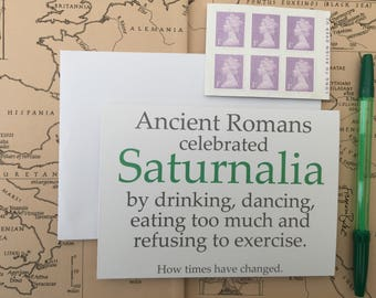 Bundle of 8 Saturnalia Roman Mythology Christmas Cards | Stocking Filler, Secret Santa Gifts | SPQR, Ancient Rome, Percy Jackson, Classics