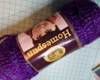 Lion Brand Homespun Yarn in Purple Haze